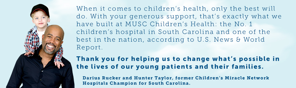 Thank you for helping us to change what's possible in the lives of our young patients and their families.
